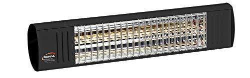 Burda Infrarot Heizstrahler Term2000 Color S 1000 Watt IP44, [Gehäusefarbe]:Schwarz