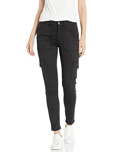 Amazon Brand - Daily Ritual Women's Stretch Twill High-Rise Skinny Cargo Pant, Black 14