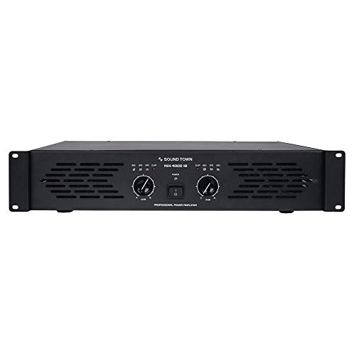 Sound Town Professional Dual-Channel, 2 x 1000W at 4-ohm, 4000W Peak Output Power Amplifier (NIX-4000IB)