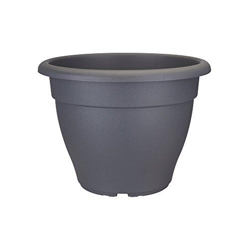 Elho Torino Campana 50 - Blumentopf - Anthrazit - Draußen  - Ø 50 x H 35 cm