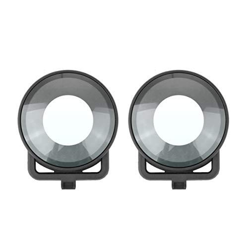 nbvmngjhjlkjlUK Tapa Protectora de la Lente para Insta360 One R Mod Dual Lens Panoramic 360 Edition Camera Dual Glass Lens Protectors Accesorios (Negro)