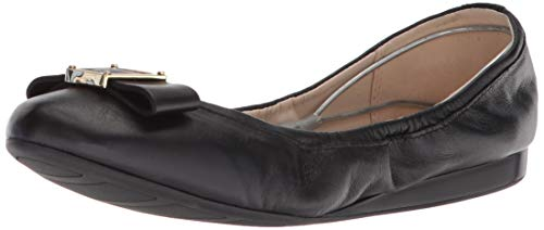 Cole Haan Women's Emory Bow Ballet Flat, Black Leather, 10 B US