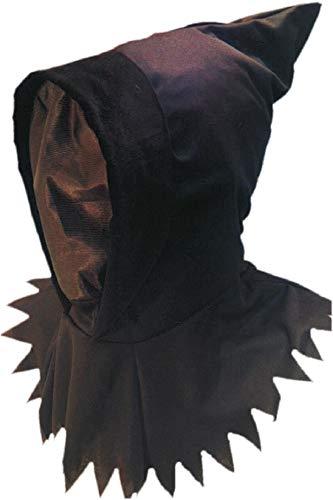 Smiffy's - Gespenstkapuzenmaske Gespenst Kapuze Maske Ninjamaske Ninja Braun Brau