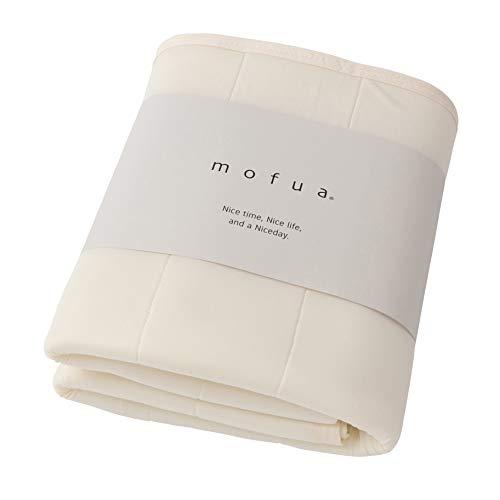 ナイスデイ 敷きパッド 夏用 アイボリー シングル (100×200cm) mofua 接触冷感 パッドシーツ ひんやり クールタッチ 通気性に優れた 3Dメッシュ ムレにくい 洗える 41640108