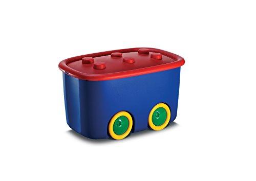 KIS Alto L Aufbewahrungsbox Funny Box 46 Liter in blau-rot, Plastik, 58x38.5x32 cm