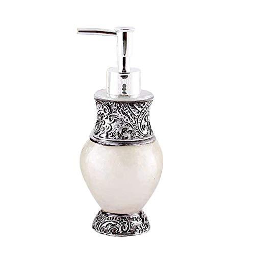 YLLN Durable 260ml Harzpumpenflasche Nachfüllbarer leerer Behälter Arbeitsplatte Dekorativer Lotionsspender für Shampoo Duschgel Flüssigseife (gelb)