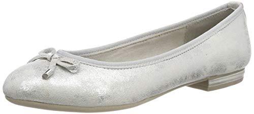 MARCO TOZZI Damen 2-2-22135-32 Geschlossene Ballerinas, Grau (Lt.Grey Metal. 237), 39 EU