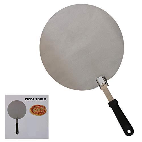 Pala de pizza plegable de 30,5 cm, de acero inoxidable, para pizza, pizza, pala para hornear, espátula para hornear y pan de pizza casero