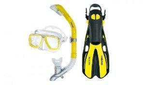 Head Cabeza Mares Tarpon máscara/Snorkel/Aletas de Buceo Set, Amarillo