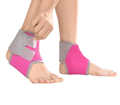 Greenery-GRE Ankle Brace Support for Kids, Breathable Adjustable Compression Ankle Tendo Foot Support Sleeve Stable Wraps Guard for Running Basketball Ankle Sprain Injuries Relief Joint Pain