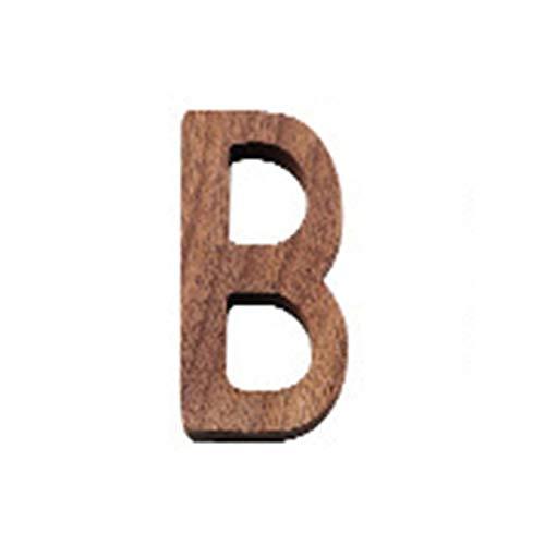 DIY Moderno Home Walnut House Signo de la casa de la puerta de la puerta de la puerta, la decoración del alfabeto de la pared, las letras de madera 3d del hotel placas de la oficina del dormitorio del