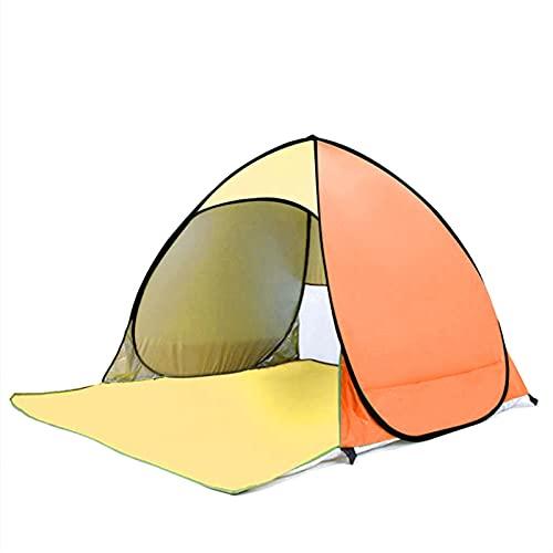 DSLK Exterior Sombra De Playa Tienda De CampañA Toldo Plegable para El Sol, Parasol Portátil, Emergente, Anti-Viento, para Acampar, Al Aire Libre, Accesorios De Playa (Color : Yellow Orange)