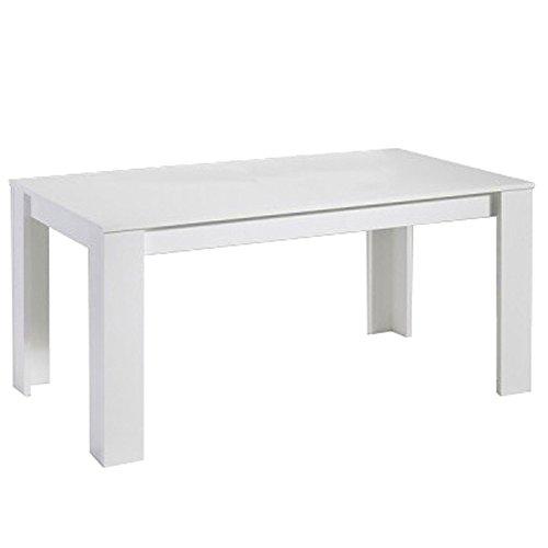 Phoenix Tisch mit L-Füßen, ca. 120x74x80 cm weiß
