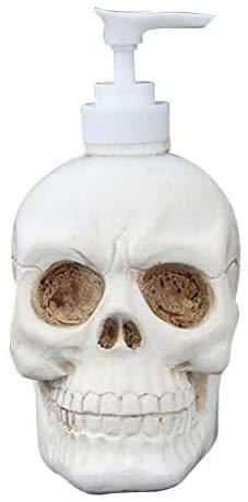 YX58&YU Dispensador de jabón de huesos, estante de almacenamiento de champú esqueleto, cabezal de baño, botella líquida de resina artesanal, accesorios de cocina, 350 ml