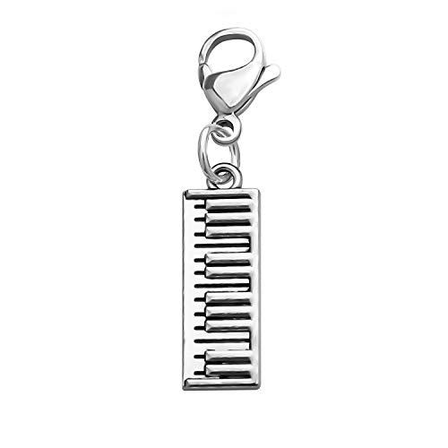 CHOORO Piano Keyboard Pendant Keychain Piano Zipper Pull Music Jewelry Gift for Pianist/Piano Teacher/Music Lovers (Piano Zipper Pull)