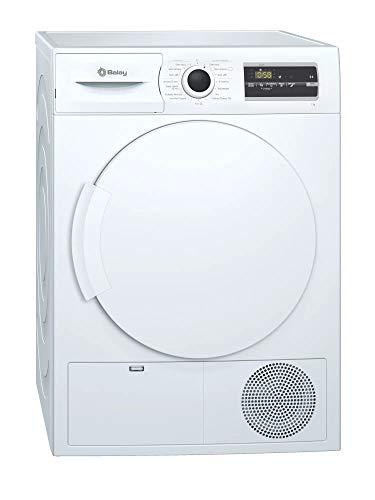 Balay 3SC377B, secadora de condensación, capacidad 7kg, 65 decibel,consumo de energia annual 499kWh, blanco