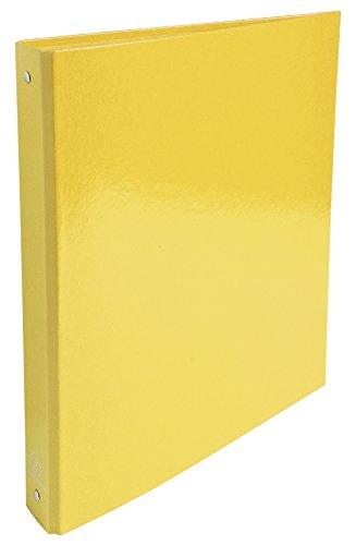 Exacompta Iderama - Carpeta A4 con 4 anillas de 30 mm, lomo de 40 mm, color amarillo