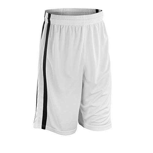 SPIRO Basketball Mens Quick Dry Short Mehrfarbig White/Black L (14)