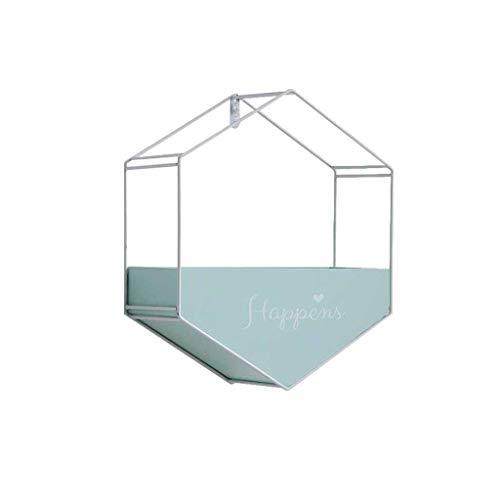 QINGJIA Titular de la Maceta Moderna Plantilla Stand Rack Wall Canasta Canasta Geometría Decoración Estante Sala de Estar Almacenamiento Interior Contenedor Estantes flotantes al Aire Libre (Azul)