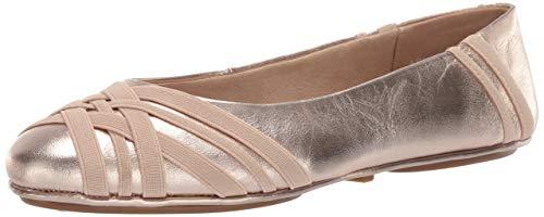 Aerosoles Saturn Ballet Flat, Gold Leather, 5 M US