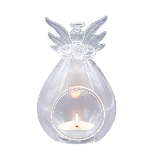 Artesanía hecha a mano: el candelabro es translúcido hecho a mano. Alta calidad: este candelabro es nuevo y de alta calidad. Está hecho de vidrio de borosilicato alto, que se caracteriza por su resistencia a altas y bajas temperaturas. Tamaño adecuad...