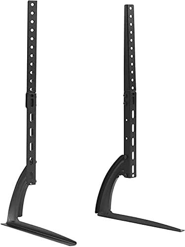 GWDFSU Patas de Soporte de TV universales Patas de TV para Mesa de 27'a 65' Soporte de TV Pedestal Riser Reemplazo de Pantalla Plana y Curva/LED/Plasma hasta 800X500 mm