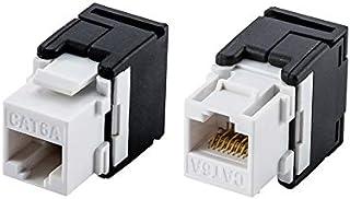 Computer Cables & Connectors - 10G Network Cat6a (CAT.6A Class Ea) RJ45 Keystone Jack Network Connector -Connection Adáptế...
