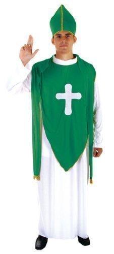 St Patrick''s Jour Irlandais Paddy''s Vert Nouveauté Accessoires Déguisement - Prêtre déguisement, Homme : Taille Unique