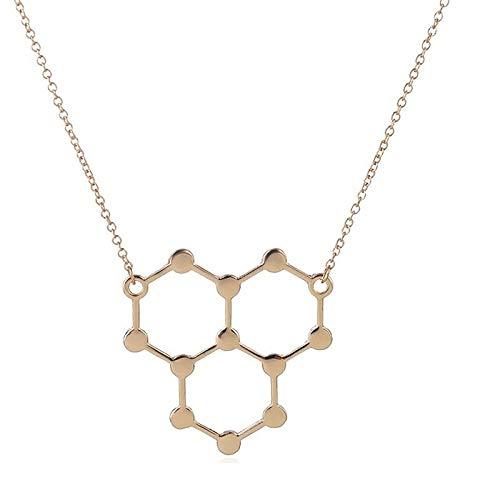 Ice Hydro Molecule Science Chemistry Colgantes y collares Collar único de molécula de agua H2O para mujeres lindas