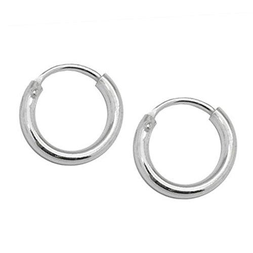 SoulCats® Creolen aus 925 echt sterling Silber, Durchmesser: 10 mm