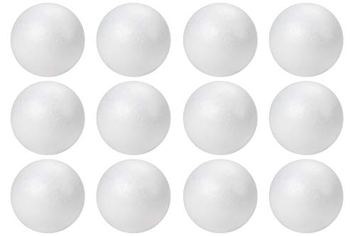 Foam Balls, Arts and Crafts Supplies (4 in, 12-Pack)