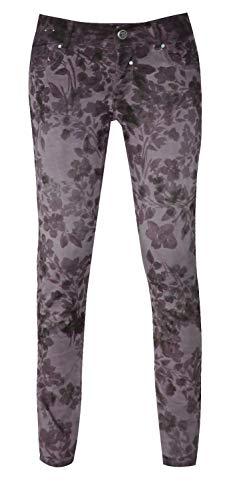 Coccara Damen Jeans HoseCurly Flower Purple, W27