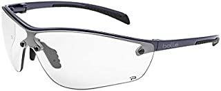 Bolle Safety Silium+ Safety Glasses, Dark Gunmetal Frame, Clear Lenses