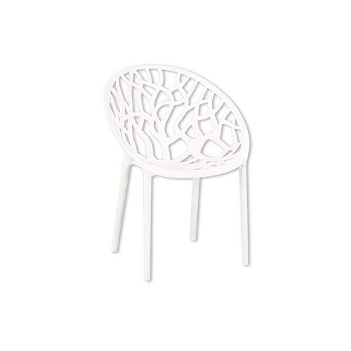 HTI-Living Stuhl Forest Gartenstuhl Kunststoffstuhl Stapelstuhl Sitzmöbel Weiß