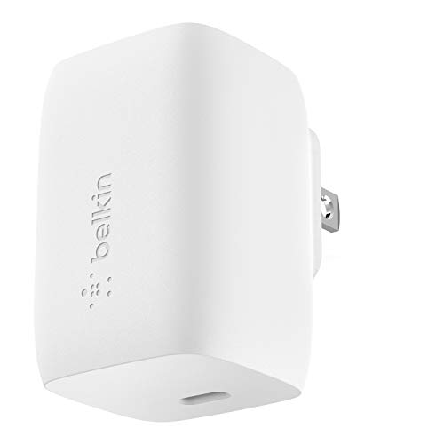 Belkin 60W GaN Charger, USB-C PD Charger (Charges MacBook Pro) USB-C Charger, USB-C MacBook Charger, MacBook Pro Charger, USB-C Fast Charger (WCH002dq)