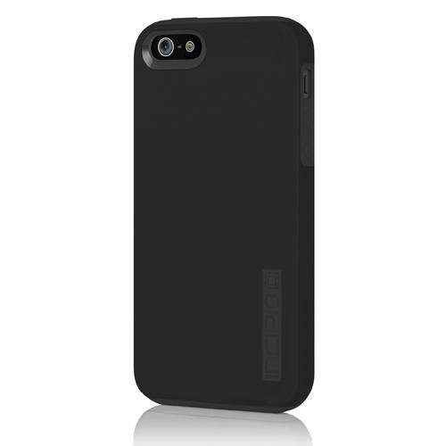 iPhone 5 5S SE Case, Incipio DualPro Case Shockproof Hard Shell Hybrid Authentic Rugged Cover - Black/Black