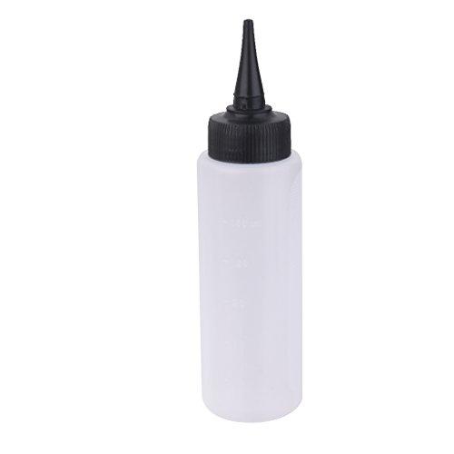 Fenteer Flacon Bouteille de Teinture/Décoloration de Cheveux de Coiffure en Plastique Claire 150ml