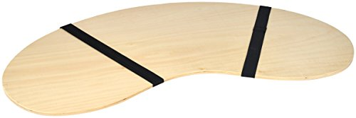 32' Portable Curved Shape Light Wood Lap Desk by Trademark Innovations