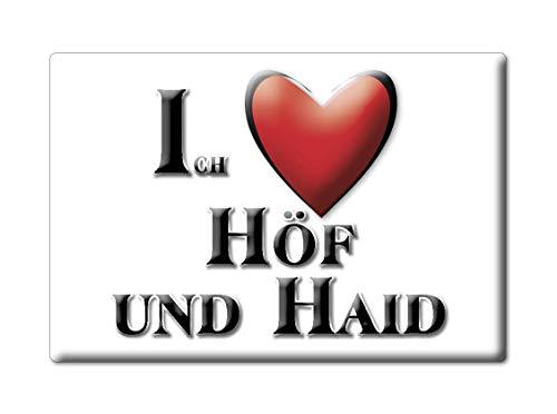 Enjoymagnets HÖF UND HAID (HE) Souvenir Deutschland Hessen Fridge Magnet KÜHLSCHRANK Magnet ICH Liebe I Love