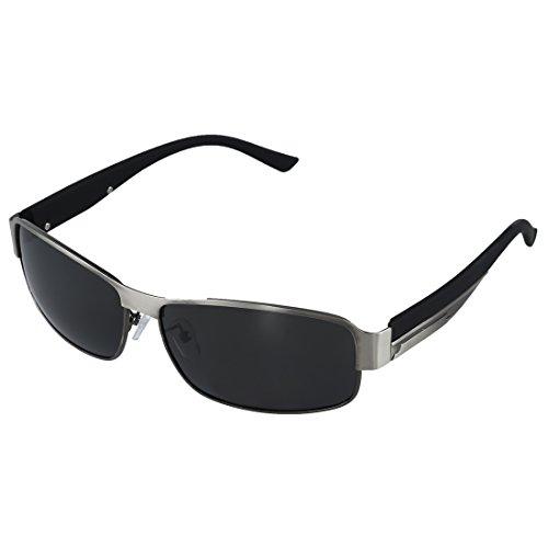 LilyJudy Moda Conduccion Gafas Polarizadas Hombres Gafas de Exterior Deportes Anteojos Gafas-Arma de Plata