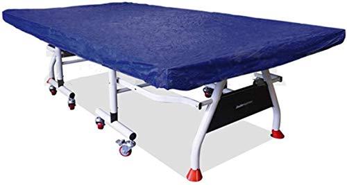 dDanke Tischtennisplatte Abdeckung Wasserdicht Indoor Outdoor Wetterfest Sonnenschutz Staubschutz Abdeckhaube 280x150x5cm (Blau)