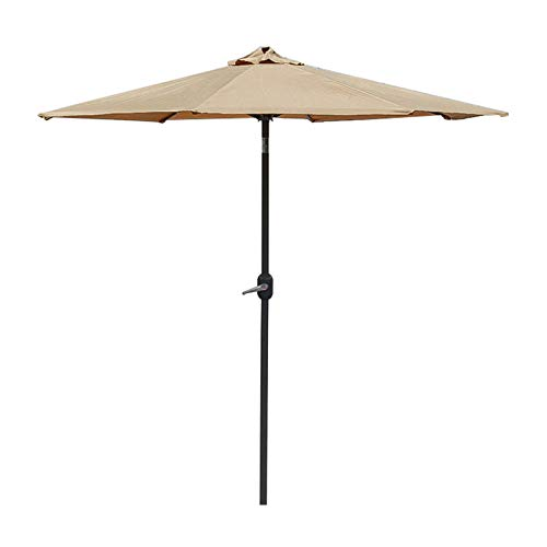 YYBD Parasol 8.8Ft/7.2 m Garden Umbrella Indoor/Outdoor Patio Umbrella String Lights Sun Shading Crank Mechanism (Excl. Base)