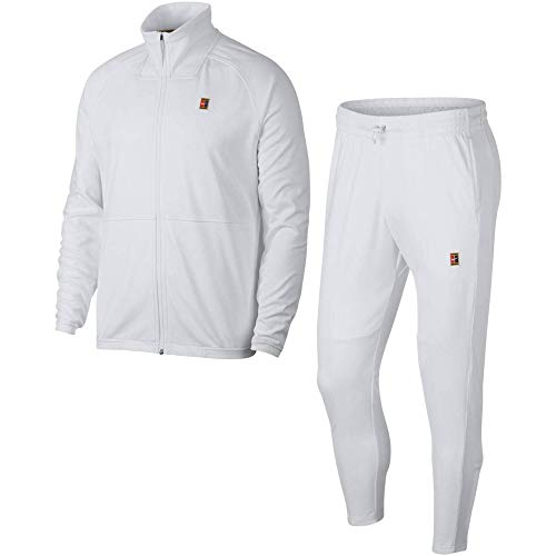 Nike Herren M NKCT ESSNTL WARM UP Tracksuit, White, 2XL