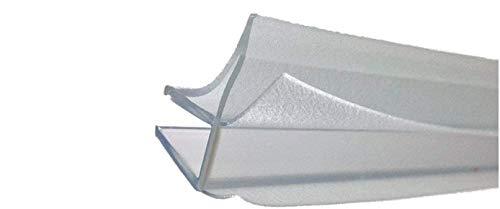 GUARNIZIONE BOX DOCCIA DUKA PROFESSIONALE ORIGINALE UNIVERSALE SPESSORE 6 mm. L. 1 METRO, guarnizione per sottoporta, CON CHIUSURE LATERALI, compatibile anche per cristallo curvo