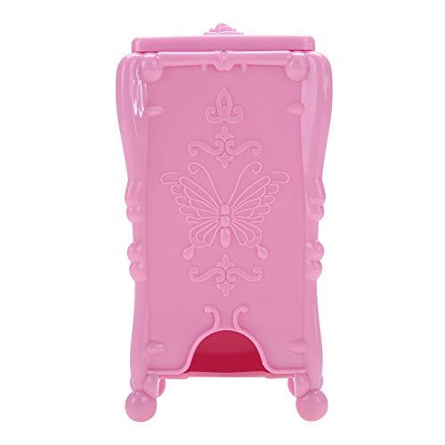 3 couleurs boîte de rangement cosmétique, coton Pad Nail Art essuyer coton outils de maquillage acrylique étui de rangement rétro(Rose)
