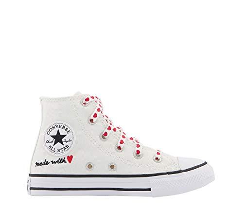 Converse Chuck Taylor CTAS - Zapatillas de fitness unisex para niños, color Blanco, talla 34 EU