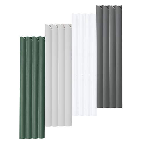 VINGO 30 Stück PVC Befestigungsclips, Universal Klemmschienen für Sichtschutzstreifen, Sichtschutz Klemmstreifen Gartenzaun Sichtschutzfolie Clips, Grün
