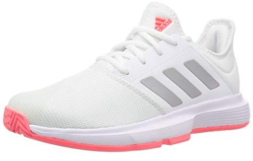 adidas GameCourt W, Zapatillas de Tenis Mujer, FTWBLA/Plamet/ROSSEN, 40 2/3 EU