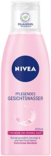 Nivea Pflegendes Gesichtswasser mit natürlichem Mandelöl für trockene und sensible Haut, 1er Pack (1 x 200 ml)