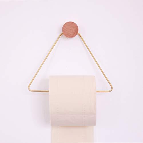 Amgend Nordic Ferm & Living Massivholz Messing Dreieck Handtuchhalter Bad Toilettenpapier Handtuchhalter
